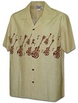 440-3988 Khaki Pacific Legend Men's Hawaiian Shirts